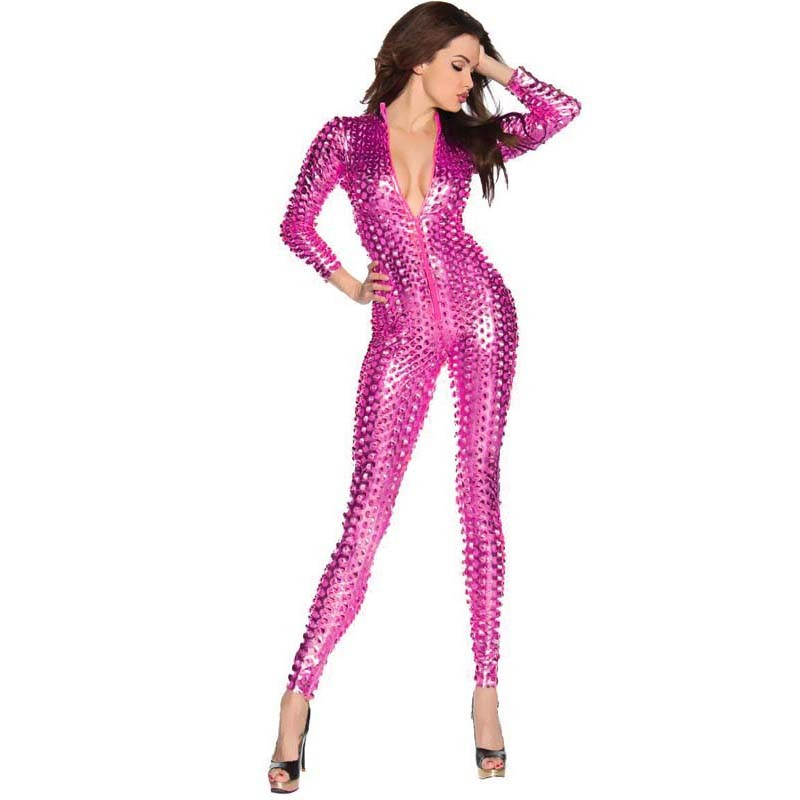 Hot-Pink Sexy Scaly Catsuit N10072