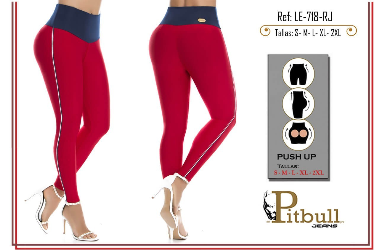 LEGGINS PUSH UP PITBULL REF LE-718-RJ