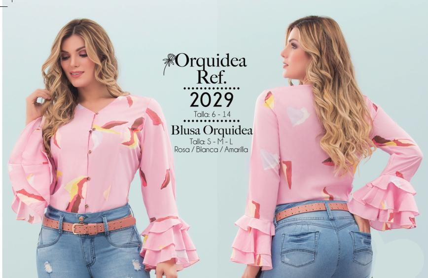 BLUSA DAMA  ORQUIDEA REF 2029