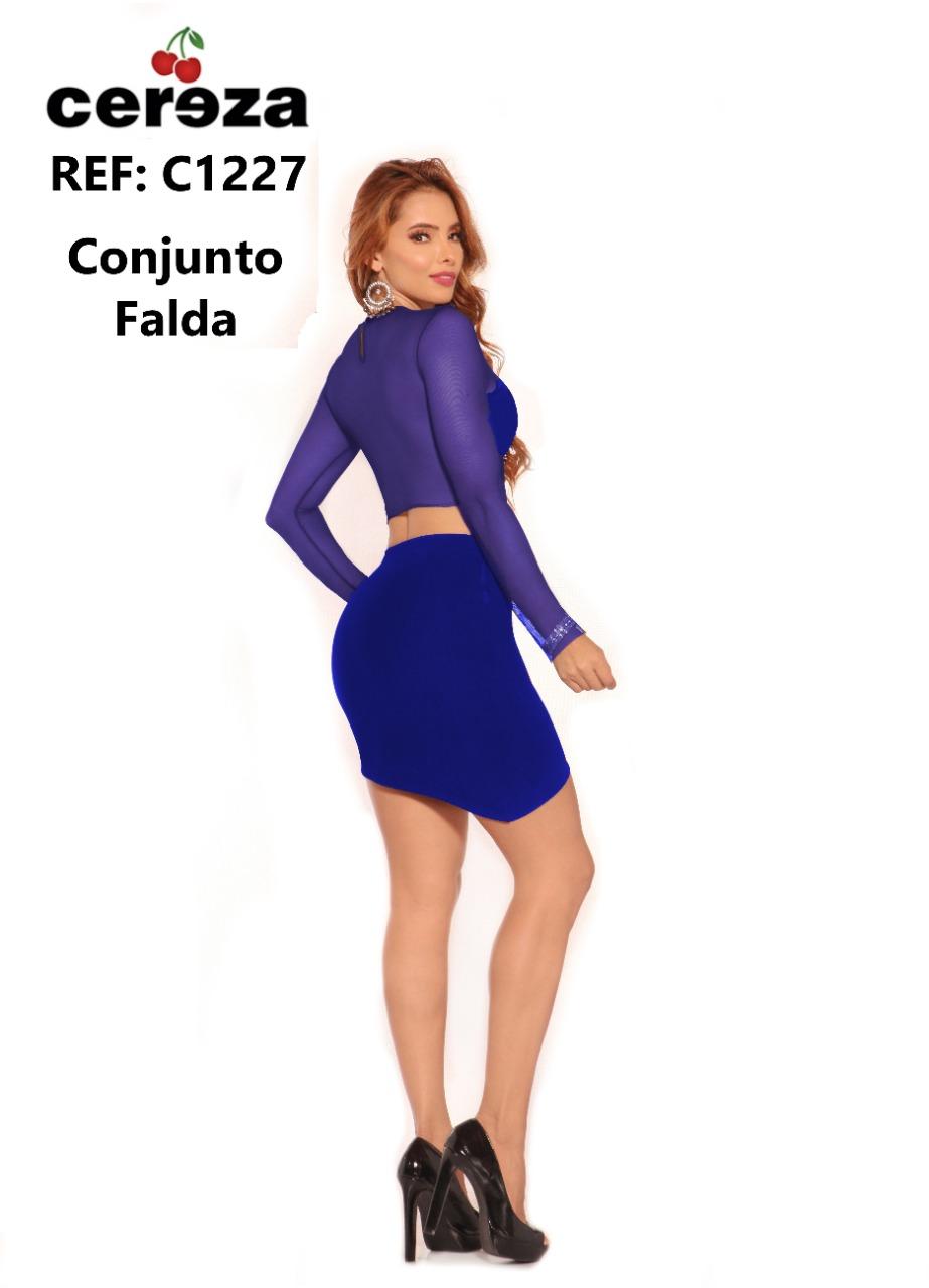 CONJUNTO FALDA CEREZA REF C1227