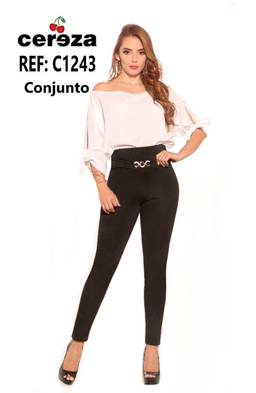 CONJUNTO PANTALON CEREZA REF C1243